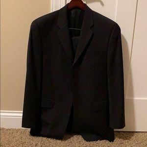 Black pin stripe suit